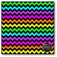 Neon & Black Chevron Digital Papers {Commercial Use Digita