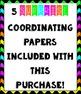 Neon & Black Chevron Digital Papers {Commercial Use Digita
