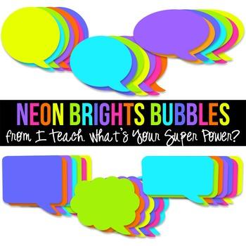 Neon Brights Speech Bubble Pack