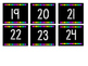 Neon Calendar Chalkboard Numbers