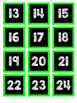 Neon Chalk Calendar Numbers and Months