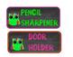 Neon Chalkboard Owl Classroom Jobs