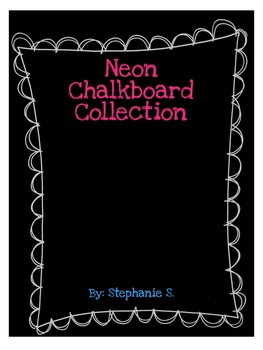 Simple Neon Chalkboard Collection
