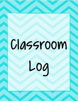 Neon Chevron Classroom Log