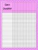 Neon Chevron Grade Sheet Series