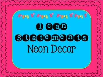 "Neon ""I Can"" Statements Board"