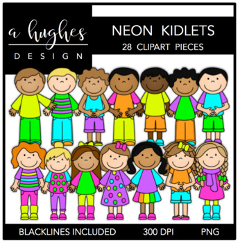 Neon Kidlets {Graphics for Commercial Use}