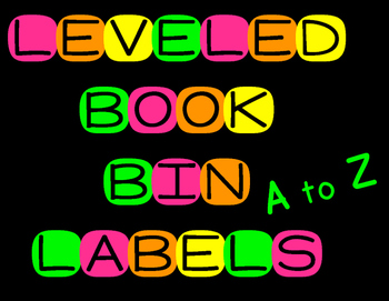 Neon Leveled Book Bin Labels