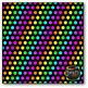 Neon Polka Dots on BLACK Digital Papers {Commercial Use Di