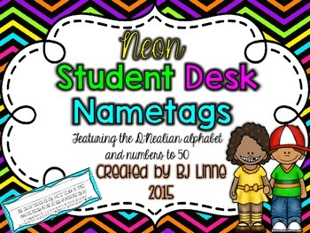 Neon Student Desk Name Tags!