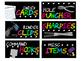 Neon Teacher Toolbox Labels