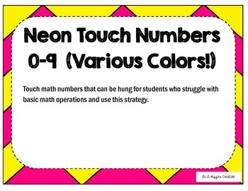 Neon Touch Numbers 0-9