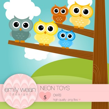 Neon Toys - Owl Clip Art