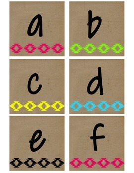 Neon Tribal Alphabet - Lower Case