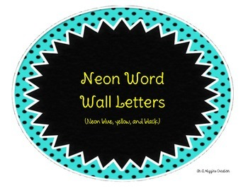 Neon Word Wall Letters 2