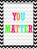 "Neon Chevron ""You Matter"" Sign {FREE}"
