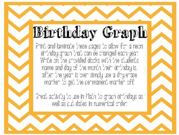 Neon and Chalkboard Birthday Graph