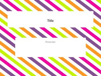 Neon stripe powerpoint template