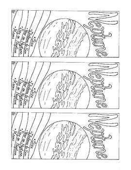 Neptune Bookmark Coloring Page PDF Printable Solar System