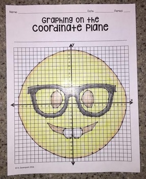 Nerd Face EMOJI (Graphing on the Coordinate Plane/ Mystery