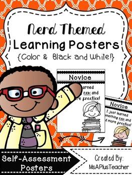 Nerd Themed Self-Assessment Posters