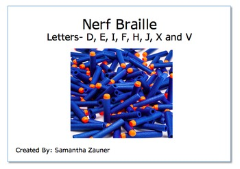 Nerf Braille Game