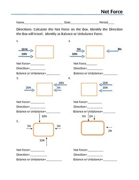 12 1 forces worksheet answers