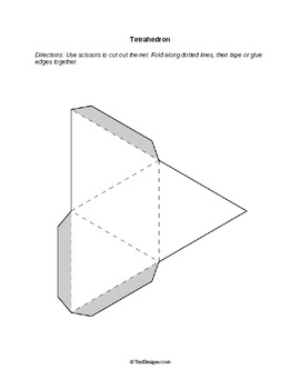 Nets: Foldable Solid Figures (3-D Shapes)