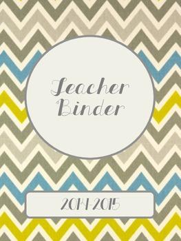 Neutral Chevron 2014-2015 Teacher Binder