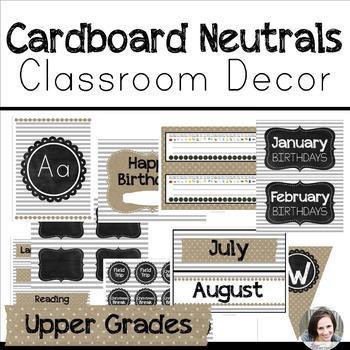 Neutral Classroom Decor - Upper Grades