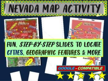 Nevada Map Activity- fun, engaging, follow-along 20-slide PPT