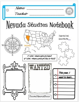 Nevada Notebook Cover