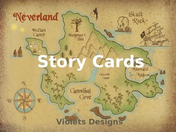 Neverland Pirate Theme Story Cards For Mapping Activity