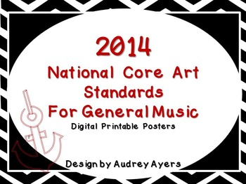 New 2014 National Core Arts Standards Posters (Digital and