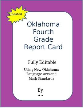 New 2016-2017 Oklahoma 4th Grade Report Card, Fully editab
