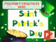 New 2017 Saint Patrick's Day Fun Vocabulary Games and Acti