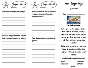 New Beginnings Trifold - ReadyGen 5th Grade Unit 4 Module B