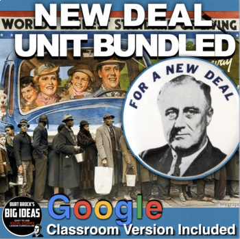 New Deal Unit- PPTs w/Video Links, Primary Source Docs, Pr