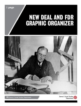 New Deal and FDR Graphic Organizer