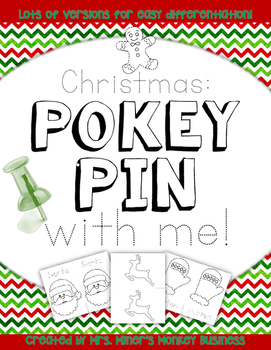New Differentiated Pokey Pin Christmas Winter Fine Motor