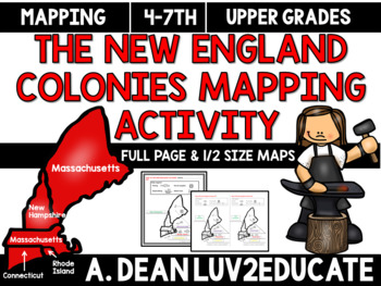 Colonial America: New England Colonies Interactive Noteboo