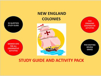 New England Colonies: Study Guide and Activity Pack