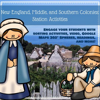 New England, Middle, and Southern Colonies: Station Activities