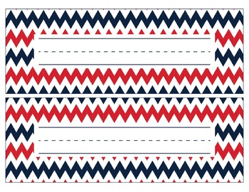 New England Patriots Inspired Red, White, & Blue Editable