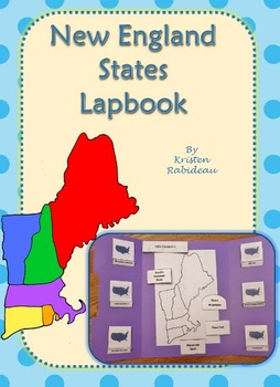 US Geography New England States Lapbook