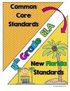 New Florida ELA Standards Compared to CCSS - 4th Grade