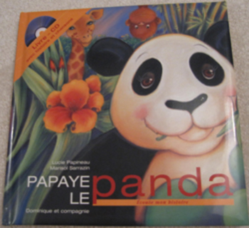 MUSIC French STORY BOOK Papaye le panda CD songs Listening