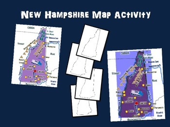 New Hampshire Map Activity- fun, engaging, follow-along 20