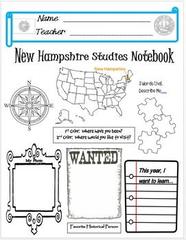 New Hampshire Notebook Cover