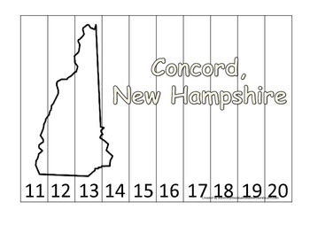 New Hampshire State Capitol Number Sequence Puzzle 11-20.